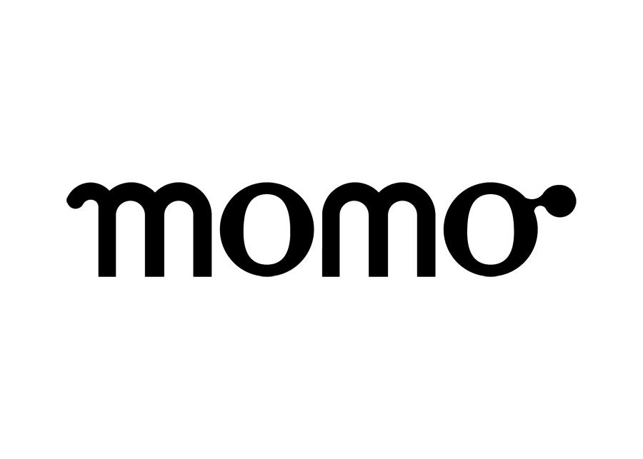Diseño del logotipo de la marca Momo