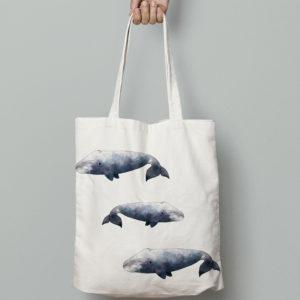 """mock up de una tote bag con uno de los estampados de """"Patrones del Ártico"""""""